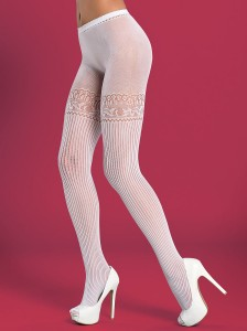 Obsessive -  Rajstopy Tights T307 White