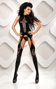 Lolitta - Horny pikantne bodystocking wet-look